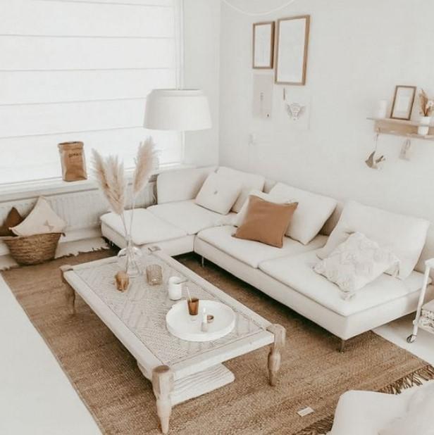 άσπρο nude σαλόνι