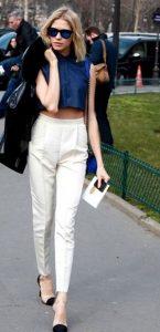 καλοκαιρινο βραδινο ντυσιμο με παντελονι ασπρο