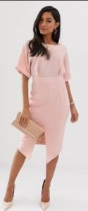 baby pink φόρεμα για γάμο