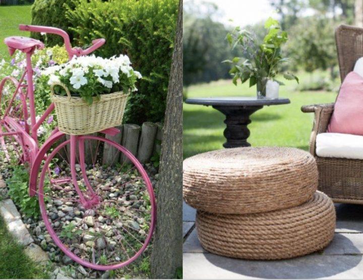 8 Εύκολες διακοσμητικές κατασκευές κήπου!