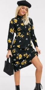 floral φόρεμα midi