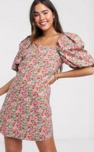 floral φορεματάκι mini