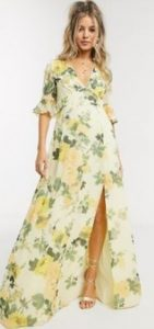 floral maxi καλοκαιρινό φόρεμα γάμου