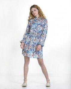 φόρεμα πουκαμίσα εμπριμέ ρούχα paranoia καλοκαίρι