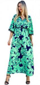 γαλάζιο απογευματινό φόρεμα για το καλοκαίρι 2020
