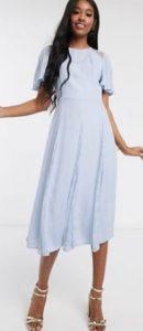 γαλάζιο φόρεμα midi