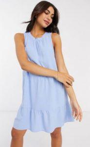 γαλάζιο μίνι φόρεμα