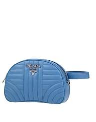 γαλάζιο τσαντάκι μέσης prada