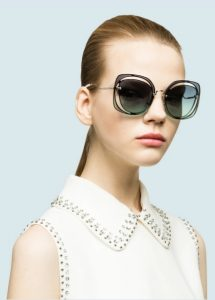 γυαλιά ηλίου με cutouts miu miu