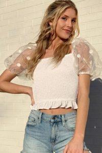 γυναικεία άσπρη μπλούζα