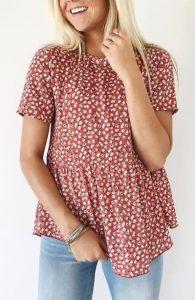 γυναικεία μπλούζα με μοτίβο