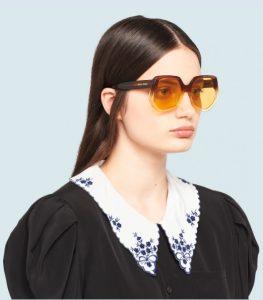 καφέ μεγάλα γυαλιά ηλίου