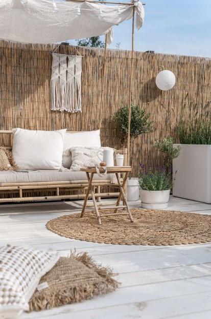 καλαμωτή κήπος καναπές τραπέζι
