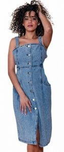 jean μίντι φόρεμα καλοκαίρι 2020