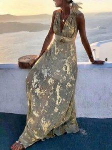 ζρυσο γκρι φορεμα μακρυ