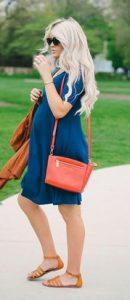 φορεμα μπλε για εγκυμοσυνη