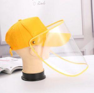 κίτρινι μάσκα καπέλο