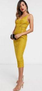 κίτρινο επίσημο φόρεμα