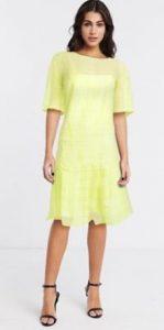 κίτρινο φόρεμα asos