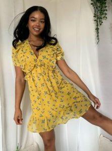 κίτρινο φορεματάκι asos