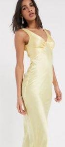 κίτρινο καλοκαιρινό φόρεμα