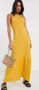 κίτρινο maxi φόρεμα