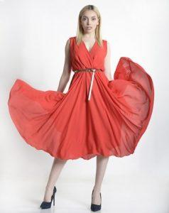 κόκκινο φόρεμα διαφάνεια ρούχα paranoia καλοκαίρι