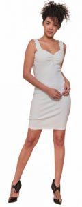 κοντό λευκό φόρεμα ediva.gr