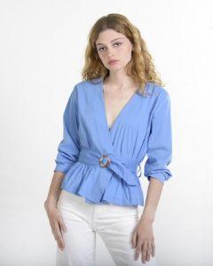 κρουαζέ γαλάζιο πουκάμισο