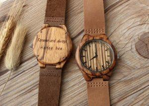 ξύλινο ρολόι χαραγμένο μήνυμα συναισθηματικά δώρα άντρες