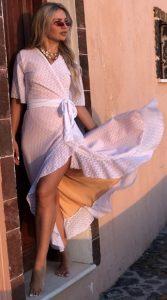 λευκό επίσημο καλοκαιρινό φόρεμα