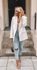 σακακι ασπρο γυναικειο