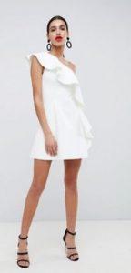 λευκό επίσημο φόρεμα