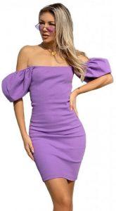 λιλά στράπλες φόρεμα ediva.gr