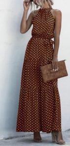 φορεμα μακρυ βυσινι