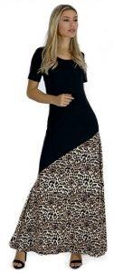 animal print μακρύ φόρεμα