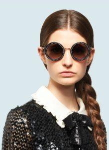 μαύρα γυαλιά ηλίου με στρας