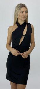 μαύρο αμάνικο φόρεμα με cut outs