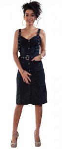 μαύρο τζιν φόρεμα με τιράντες