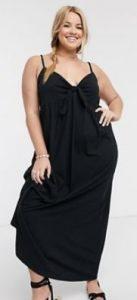μαύρο φόρεμα maxi