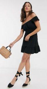 μαύρο μίνι φόρεμα asos