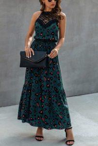 μακρυ φορεμα πρασινο