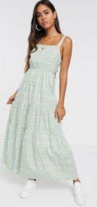 maxi λευκό φόρεμα