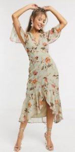 midi φλοραλ φόρεμα γάμου