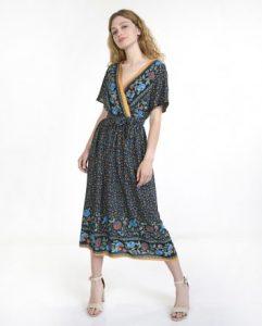 midi φόρεμα μπλε ρούχα paranoia καλοκαίρι