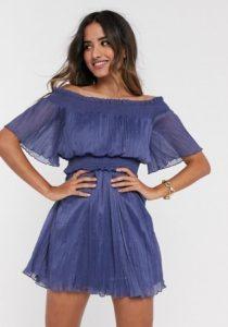 μίνι μπλε φόρεμα asos