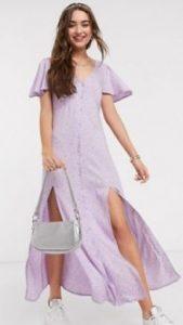 μοβ παστέλ φόρεμα