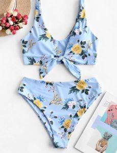 μπικίνι γαλάζιο λουλούδια
