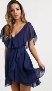 μπλε αέρινο φόρεμα