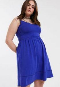 μπλε μίνι φόρεμα